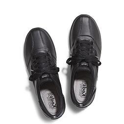 Keds Women's Prestige, Black Leather, 8.5 M US