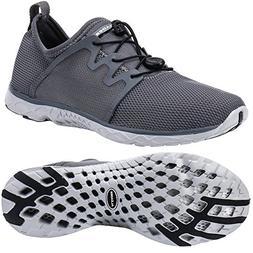 ALEADER Men's Quick-Dry Slip On Water Shoes Dark Gray 8 D US