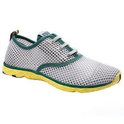 ALEADER Men's Quick Drying Aqua Water Shoes Green 11 D US