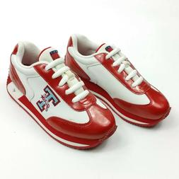 Tommy Hilfiger Rare Girl Sneakers Sport Shoes Red White Size