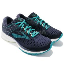 Brooks Ravenna 9 D Wide Navy Blue White Women Running Shoes