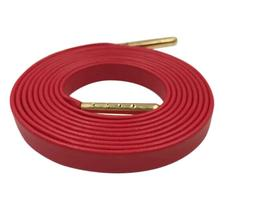 Red Leather Shoe Laces Gold Aglets Luxury Shoelaces for Snea
