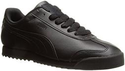 PUMA Men's Roma Basic Fashion Sneaker, Black/Black - 8.5 D U