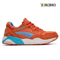 Running shoes for Women Orange vintage Casual Sport sneakers