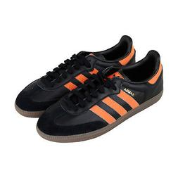 Adidas Samba Og Mens Black Leather Low Top Lace Up Sneakers