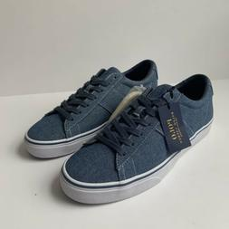 Polo Ralph Lauren Sayer Indigo Chambray Canvas Sneakers Shoe