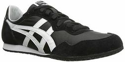 Onitsuka Tiger Serrano Classic Running Shoe, Black/White, 6