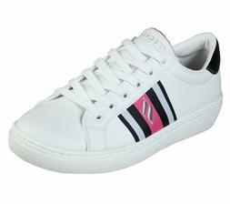 Skechers Shoe Women White Pink Memory Foam Comfort Comfort F