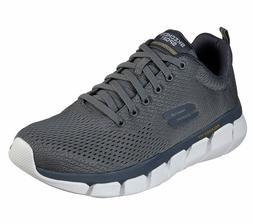 Skechers Shoes Charcoal Men Memory Foam Mesh Sport Comfort C
