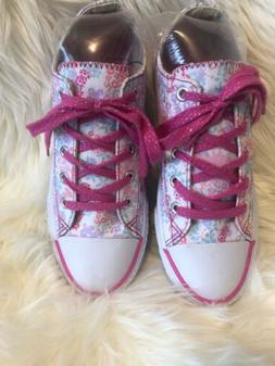 airwalk shoes Girls Juniors Miss Pink Sneakers Flowers Size