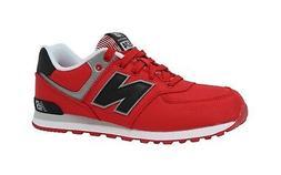 New Balance Shoes Junior Youth Boys Girls KL574 Hot Red Runn
