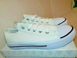 AIRWALK SHOES Kids Youth Girls Size 3 white Canvas Sneakers