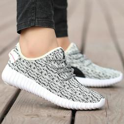 Size 7-12 Mens Casual Fly-knit Sneakers Shoes Athletic Fitne