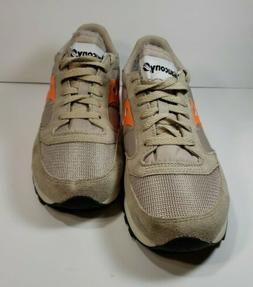 Saucony Size 8 Men's khaki Orange suede  Original Sneaker sh