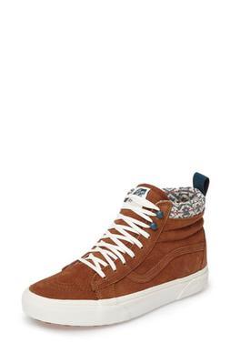 Women's Vans Sk-8 Hi Mte Sneaker, Size 5 M - Brown