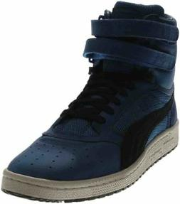 Puma Sky II High Color Blocked Leather Sneakers - Blue - Men