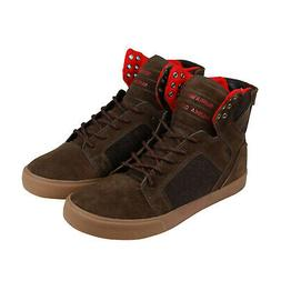 Supra Skytop Mens Brown Suede High Top Lace Up Sneakers Shoe