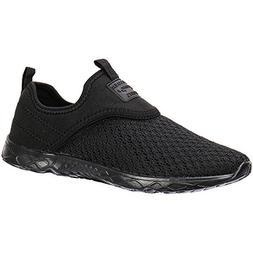 ALEADER Men's Slip-on Athletic Water Shoes Black/Blk 11 D US