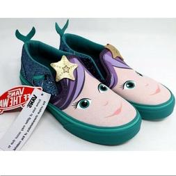 Vans SLIP-ON asher mermaid blue glitter canvas  SNEAKERS Sho