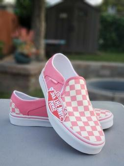 VANS SLIP ON SNEAKERS FOR WOMEN Size 7.5 SKATE  SHOES CANVAS