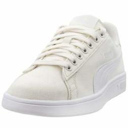Puma Smash V2 Canvas Sneakers Casual    - White - Mens