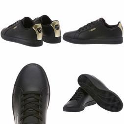 a7d278c6a12 Puma Smash Women s Perf Met Athletic Sneaker Black Leather P