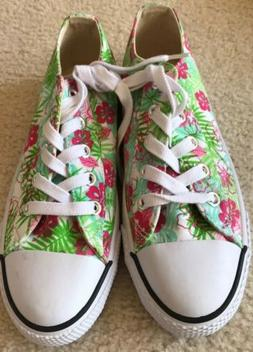 AIRWALK Sneakers Floral Canvas Size 7.5 Non Marking Low Top