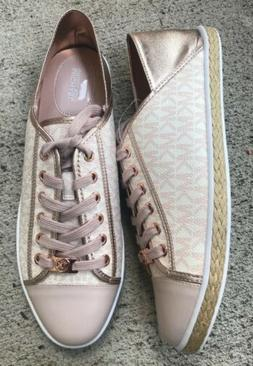 Michael Kors Sneakers MK Rose-gold Pink Shoes White Leather