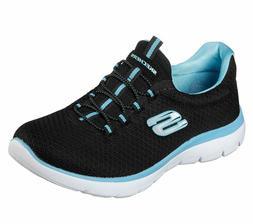 Skechers Women's Sport Summits Shoes Memory Foam Bungee Slip