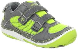 Stride Rite SRT SM Ronaldo Sneaker ,Bright Lime/Grey,4 W US