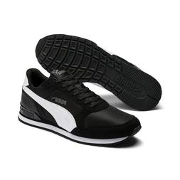 PUMA ST Runner v2 Mesh Men's Sneakers Shoe Basics BLACK/WHIT