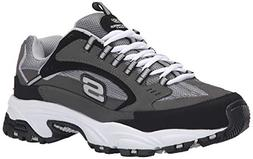 Mens Skechers Stamina Nuovo Training Shoes 11 M, Charcoal/Bl