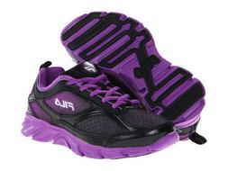 FILA Stride Girls Youth Sneakers Shoes Black/Dewberry Purple