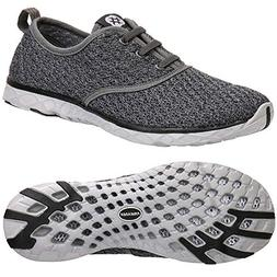 ALEADER Men's Stylish Quick Drying Water Shoes Gray 8 D US