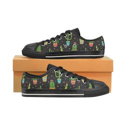 Succulent and Cactus Fashion Low Top Sneakers Classic Canvas