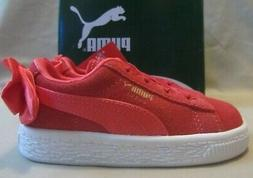 Puma Suede Bow Sneakers Toddler Size 6 Paradise Pink New Wit