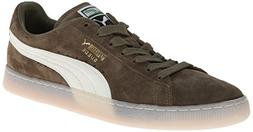 PUMA Suede Classic Leather Formstrip Sneaker,Burnt Olive,8 M