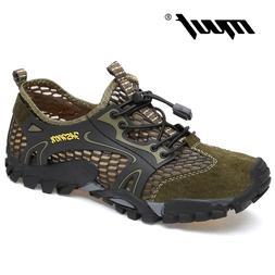 Summer Breathable Men <font><b>Hiking</b></font> Shoes Suede