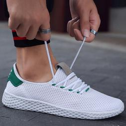 Summer Men's Causal Sneakers Breathable Mesh Sports Shoes Tr
