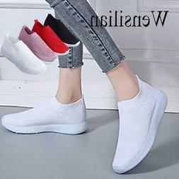 Summer Shoes Breathable White Sneakers Slip on Shoes for Wom
