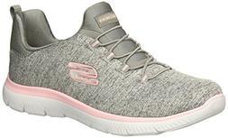 Skechers Sport Women's Summits Sneaker,grey light pink,5.5 M