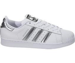 adidas Originals Women's Superstar Shoes Running, White/Silv