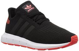 adidas Originals Baby Swift Running Shoe, Black/Solar red, 8