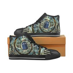 Tardis Doctor Who Lace Up Sneakers Classic High Top Canvas S