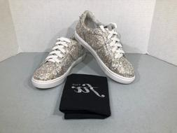 The Fix Tawny Women Size 6.5 Gold Silver Lace-up Fashion Sne
