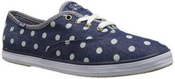 Keds Women's Taylor Swift Dot Denim Fashion Sneaker, Dark De