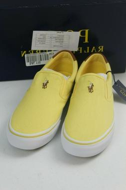 Polo Ralph Lauren Thompson Yellow Casual Slip-On Sneakers US