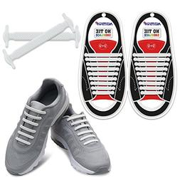 No Tie Shoelaces Silicone Sneaker Boots Shoes Easy Install W