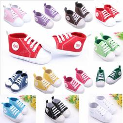 Toddler Infant Boy Girl Anti-slip Sole Crib Shoes Sneaker Ne