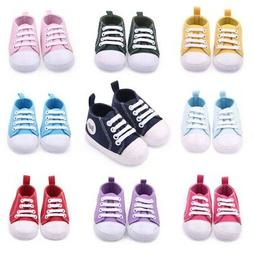Toddler Kids Canvas Sneakers Baby Boy Girl Soft Sole Crib Sh
